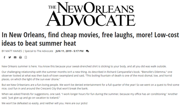 new orleans advocate helis foundation