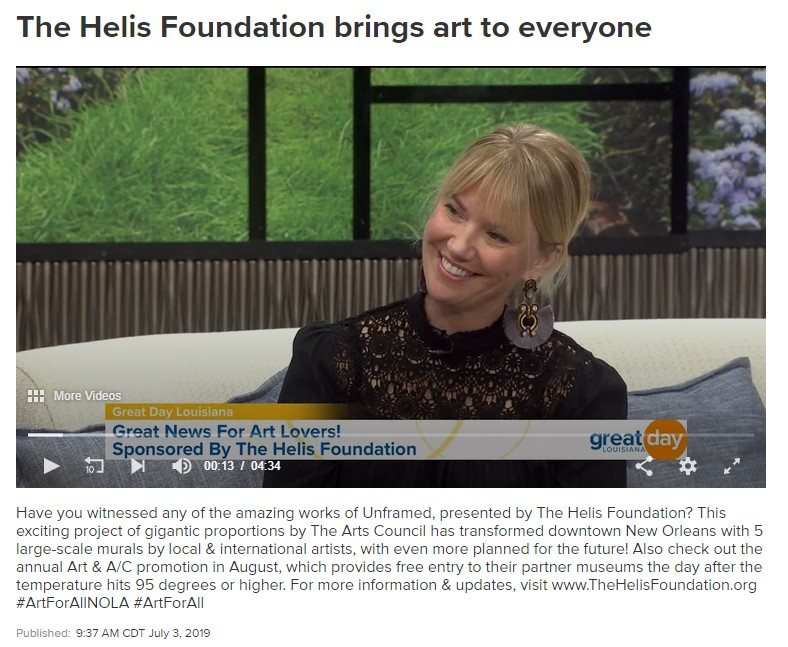 The Helis Foundation provides art for all in New Orleans